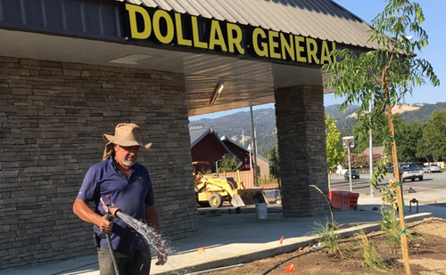 Dollar General, Cloverdale CA Landscaping